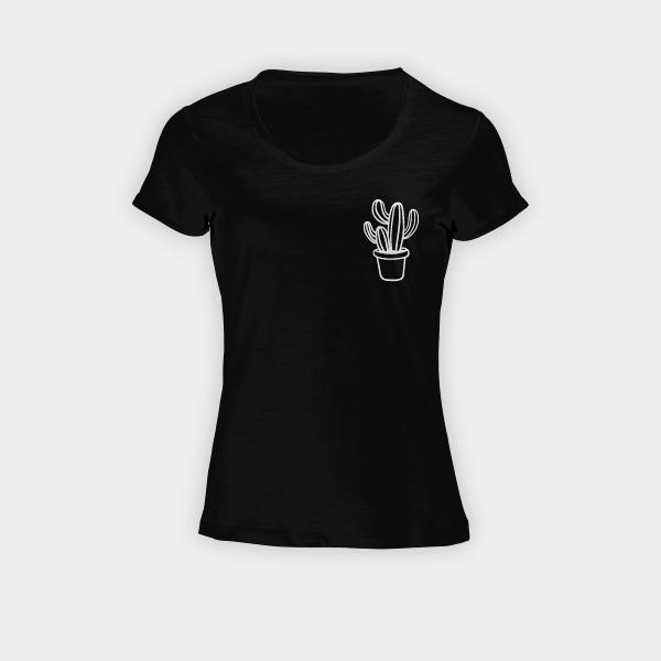 buy online 508d5 aca39 Maglietta Derby Cactus a taschino - Donna | DaPersonalizzare.it